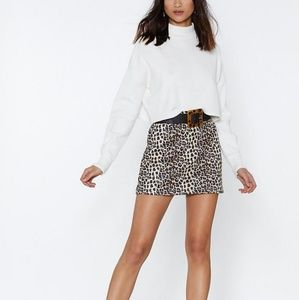 Nasty Gal Put Your Claws Away Leopard Mini Skirt